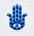 Lucky hamsa hand vector image