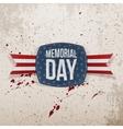 Memorial Day greeting Emblem and Ribbon vector image vector image