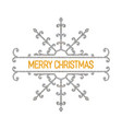 merry christmas inscription vector image vector image