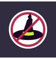 No Ban or Stop signs Halloween Witch hat icon vector image vector image