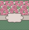 old school frame with roses and text place vector image vector image