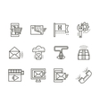 Online services simple line icons vector image vector image