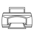 paper printer icon outline style vector image vector image