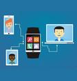 people communicate via wearable vector image vector image