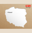 poland map polish maps craft paper texture empty vector image vector image