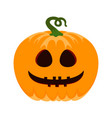 pumpkin isolated on white halloween vector image