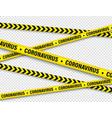 quarantine zone warning tape novel coronavirus vector image