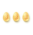 realistic three-dimensional easter eggs isolated vector image