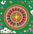 roulette wheel background vector image vector image
