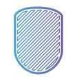 rounded shield with striped in color gradient vector image vector image