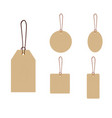 set blank gift box tags or sale shopping vector image