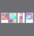 set template with holographic shapes vector image vector image