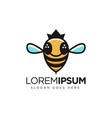 simple and fun queen bee logo icon template vector image