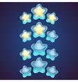 Star logo set icon vector image vector image