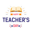 teachers day isolated icon literacy and education vector image vector image