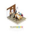 teamwork collaboration isometric composition vector image vector image