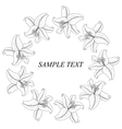 Vintage floral frame with lilies vector image vector image