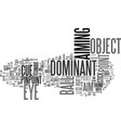 what is a dominant eye text word cloud concept vector image vector image