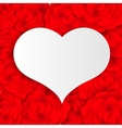 white and red hearts vector image