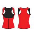 women red corset vest vector image vector image