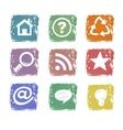Grunge web icons vector image