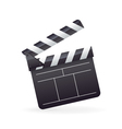 Realistic detailed cinema film clapper icon vector image