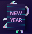 2020 new year card modern design in trendy vector image vector image