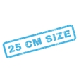 25 cm Size Rubber Stamp vector image vector image
