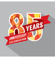 85th Years Anniversary Celebration Design vector image vector image
