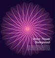 abstract violet fractal flower background vector image vector image
