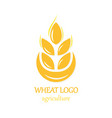 agriculture wheat logo icon design template vector image vector image