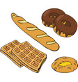 bakery set bakery shop and baked goods vector image
