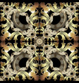 baroque ornate seamless pattern vector image vector image