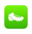 baseball cleat icon digital green vector image vector image