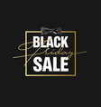 Black friday sale gold banner luxury black