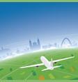 bogota skyline flight destination vector image vector image