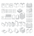 Book line icons set vector image vector image