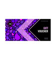 bright abstract gift voucher with an arrow vector image