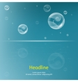 Bubbles on blue background vector image vector image