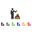 businessman show imo shit icon vector image vector image