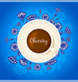 chicory drink cup coffee with chicory hand vector image vector image