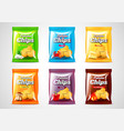 chips package design photo realistic set vector image