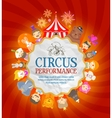 circus poster circus performers and animals vector image vector image