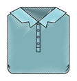 colored crayon silhouette of men polo shirt folded vector image