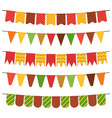 colorful flags and bunting garlands for decoration vector image vector image