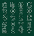crypto currency icon collection in line style vector image vector image