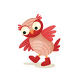cute funny owlet walking in boots sweet owl bird vector image vector image