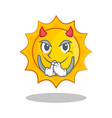 devil cute sun character cartoon vector image