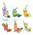 different smoothie set collection of various vector image vector image