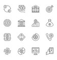 dollar outline icons set usd and money vector image